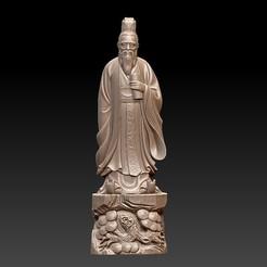 ConfuciusSculptureA1.jpg Download free STL file Confucius statue • 3D printing object, stlfilesfree