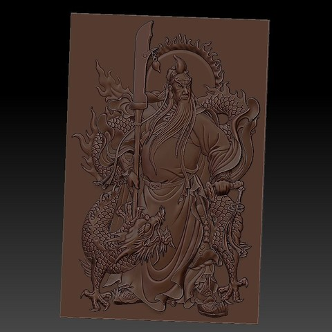 guangongDragon1.jpg Télécharger fichier STL gratuit GuanGong et dragon • Plan imprimable en 3D, stlfilesfree