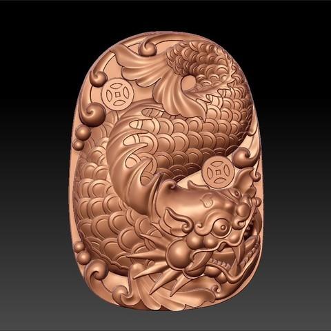 dragon_fish1.jpg Télécharger fichier STL gratuit créature de poisson dragon • Modèle pour imprimante 3D, stlfilesfree