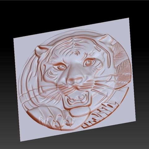 TigerHeadRRR2.jpg Download free STL file tiger head • 3D printable template, stlfilesfree