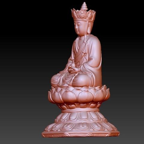 JizoA2.jpg Télécharger fichier OBJ gratuit Bouddha Kshitigarbha • Plan pour impression 3D, stlfilesfree