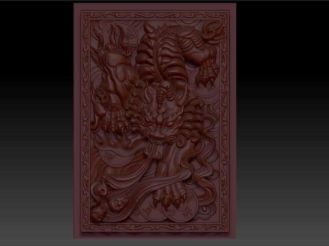 pixiu1.jpg Télécharger fichier STL gratuit Mythique Animal Sauvage Pixiu • Modèle à imprimer en 3D, stlfilesfree