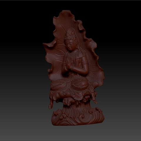 guanyinBuddhaA2.jpg Download free STL file guanyin buddha statue 3d model for cnc or 3d printing • 3D print object, stlfilesfree
