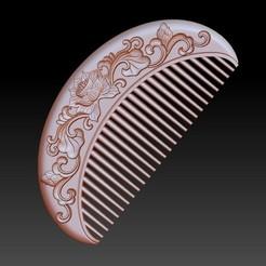 lotusComb1.jpg Download free STL file lotus flower comb • 3D printable model, stlfilesfree