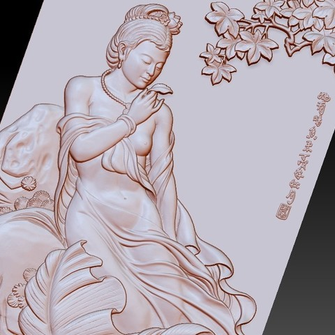 ChineseClassicalBeauty4.jpg Download free STL file Chinese classical beauty • 3D print model, stlfilesfree