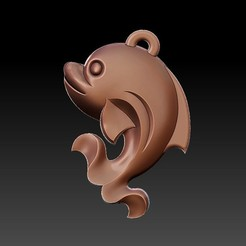 dolphin_pendant1.jpg Télécharger fichier STL gratuit pendentif dauphin • Design imprimable en 3D, stlfilesfree