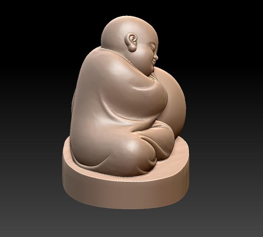 littleMonkSSS4.jpg Télécharger fichier STL gratuit dormant petit moine • Modèle à imprimer en 3D, stlfilesfree