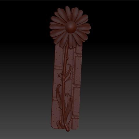 z0flower1.jpg Télécharger fichier OBJ gratuit marguerite fleur modèle 3d de relief • Design imprimable en 3D, stlfilesfree