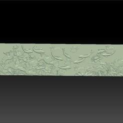 lotus_and_many_fish1.jpg Télécharger fichier STL gratuit poissons et fleurs de lotus • Plan pour impression 3D, stlfilesfree