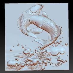 twojumpingFish1.jpg Télécharger fichier OBJ gratuit deux poissons sauteurs • Modèle pour impression 3D, stlfilesfree