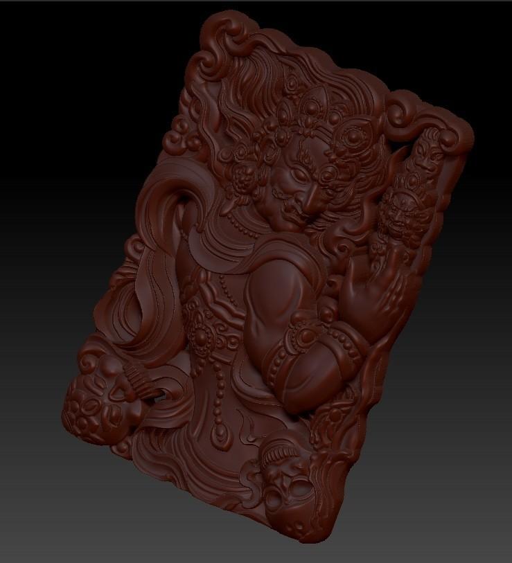 tibetanbuddhademon5.jpg Télécharger fichier OBJ gratuit Statue de Bouddha tibétain 3d modèle de relief • Modèle pour impression 3D, stlfilesfree