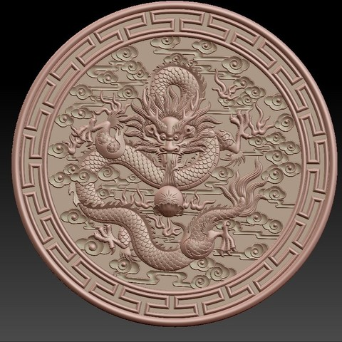 round_Dragon3.jpg Download free STL file dragon • 3D print object, stlfilesfree