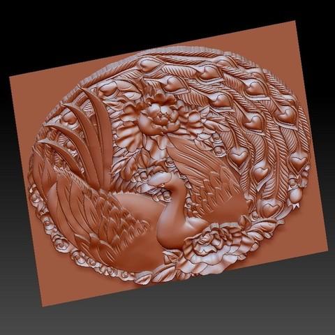 circularPhoenix4.jpg Download free STL file Phoenix 3d model of bas-relief • 3D printable object, stlfilesfree