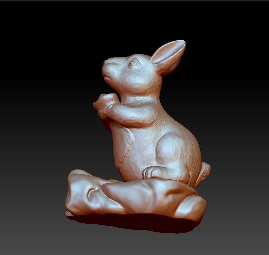 rabbit3.jpg Download free STL file rabbit 3d model • 3D printing template, stlfilesfree