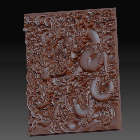 dragonOmClouds2.jpg Download free STL file dragon • 3D print object, stlfilesfree