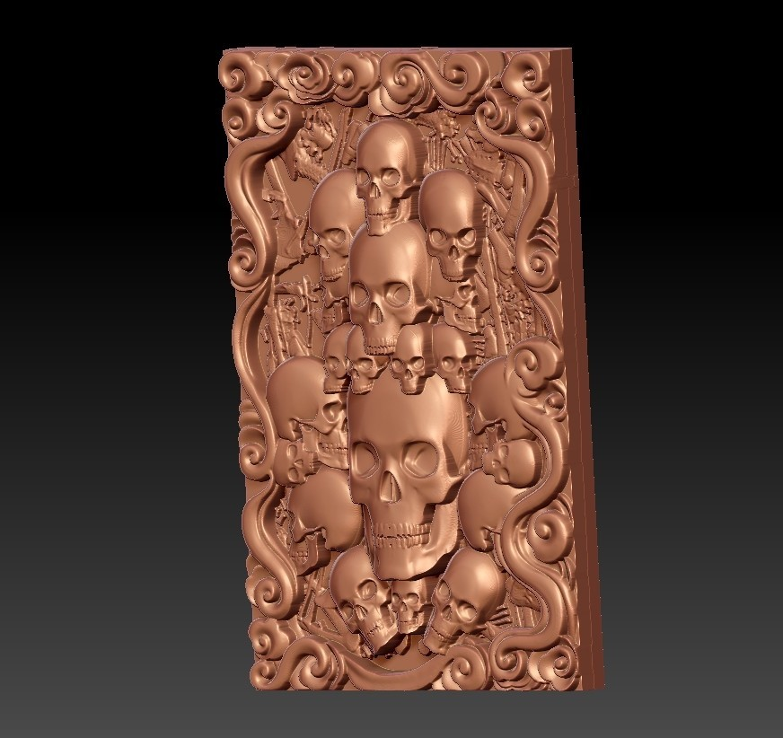 Skulls2.jpg Download free STL file skulls • 3D print template, stlfilesfree