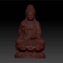 010guanyin1.jpg Download free OBJ file Guanyin bodhisattva Kwan-yin sculpture for cnc or 3d printer • 3D printable design, stlfilesfree
