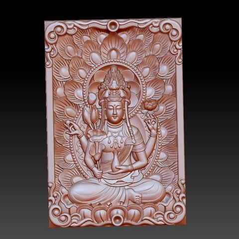 guanyinpeacock1.jpg Télécharger fichier STL gratuit Bouddha Guanyin • Modèle imprimable en 3D, stlfilesfree