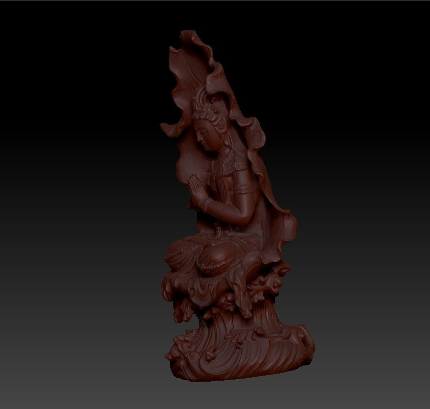 guanyinBuddhaA3.jpg Download free STL file guanyin buddha statue 3d model for cnc or 3d printing • 3D print object, stlfilesfree