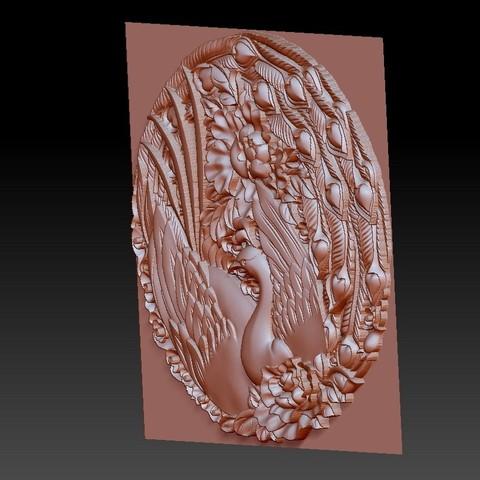 circularPhoenix3.jpg Download free STL file Phoenix 3d model of bas-relief • 3D printable object, stlfilesfree
