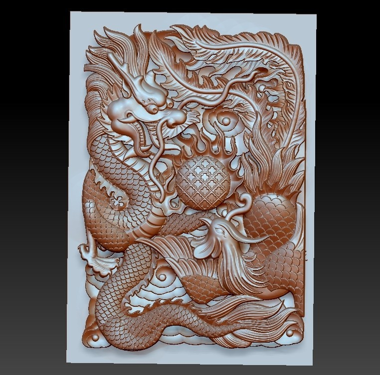 DragonAndPhoenix1.jpg Download free OBJ file dragon and phoenix • Design to 3D print, stlfilesfree