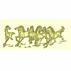horse1.jpg Download free STL file horses decorative relief model for cnc • 3D printing object, stlfilesfree