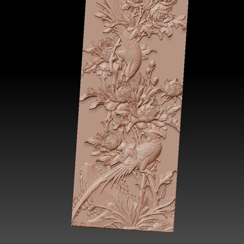 birdsAndFlowers4.jpg Télécharger fichier STL gratuit fleurs et oiseaux • Plan pour impression 3D, stlfilesfree