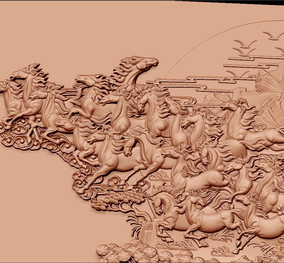 many_horses_and_trees4.jpg Download free STL file running horses and trees • Object to 3D print, stlfilesfree
