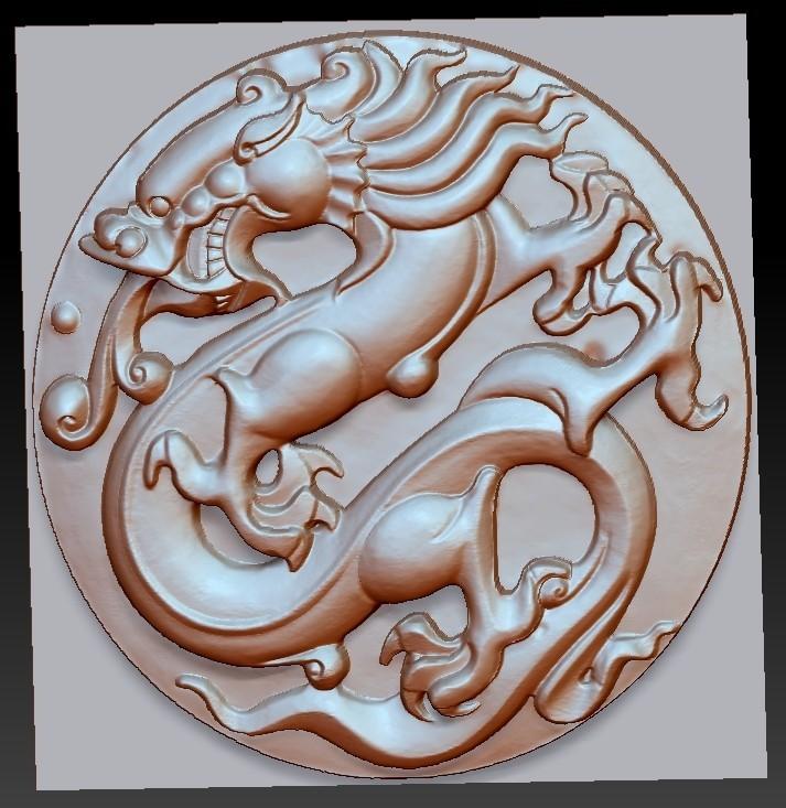 circularDragon1.jpg Télécharger fichier OBJ gratuit dragon circulaire • Objet imprimable en 3D, stlfilesfree