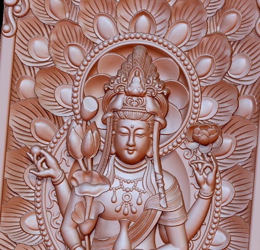 guanyinpeacock5.jpg Télécharger fichier STL gratuit Bouddha Guanyin • Modèle imprimable en 3D, stlfilesfree
