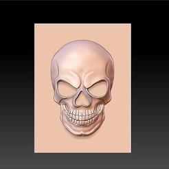skull_artistic1.jpg Télécharger fichier STL gratuit crâne • Objet pour imprimante 3D, stlfilesfree