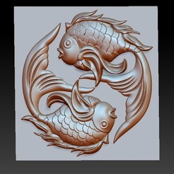 twoFish1.jpg Télécharger fichier OBJ gratuit poisson mignon • Modèle à imprimer en 3D, stlfilesfree