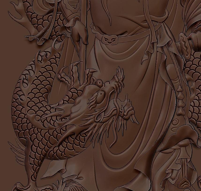 guangongDragon5.jpg Télécharger fichier STL gratuit GuanGong et dragon • Plan imprimable en 3D, stlfilesfree