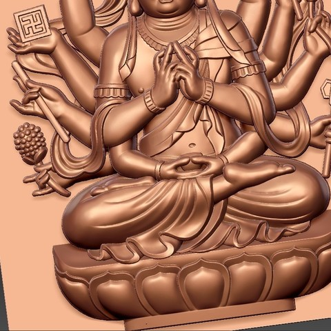 guanyinAQ9.jpg Download free STL file guanyin with thousands of hands • Object to 3D print, stlfilesfree