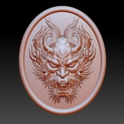 DragonHead.jpg Download free OBJ file dragon head pendant • 3D printing design, stlfilesfree