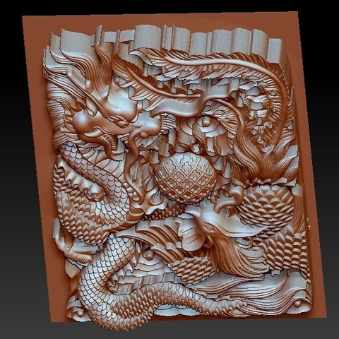 DragonAndPhoenix4.jpg Download free OBJ file dragon and phoenix • Design to 3D print, stlfilesfree