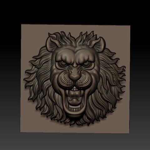 LIONHEAD1.jpg Télécharger fichier STL gratuit tête de lion • Design pour imprimante 3D, stlfilesfree