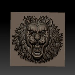 LIONHEAD1.jpg Download free STL file lion head • 3D printable design, stlfilesfree