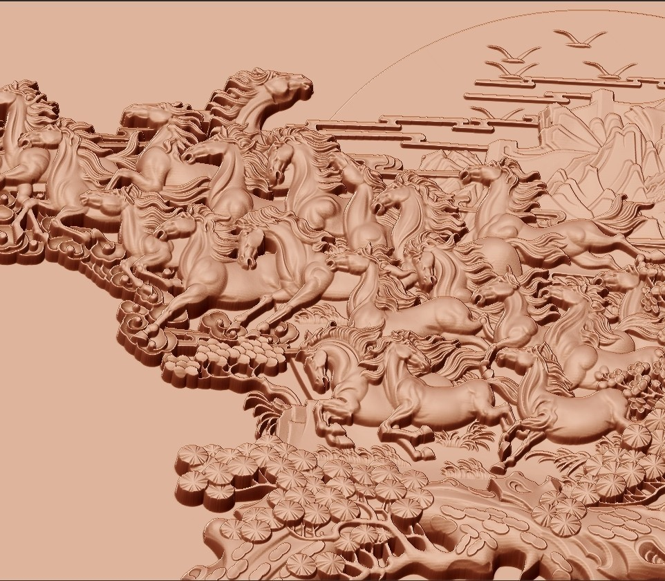 many_horses_and_trees6.jpg Download free STL file running horses and trees • Object to 3D print, stlfilesfree