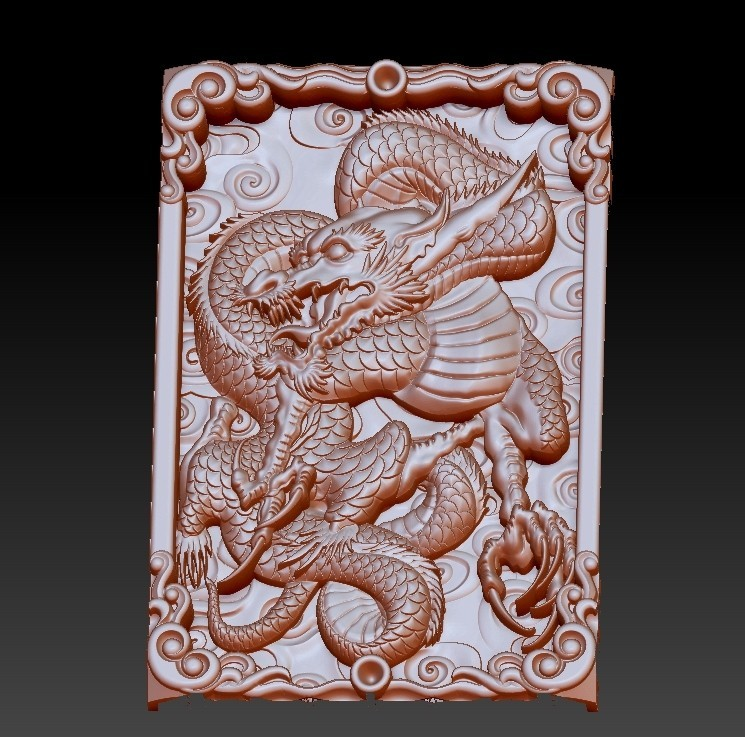 DragonZ2.jpg Download free OBJ file dragon 3d model of relief for cnc or 3d printing • 3D printable template, stlfilesfree