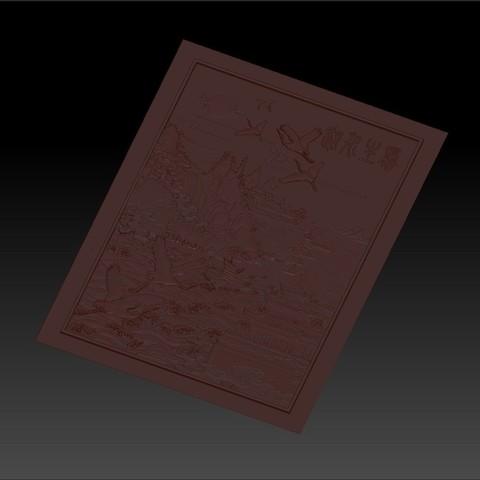 MontainsAndHills4.jpg Télécharger fichier STL gratuit Paysage chinois 3d modèle de bas-relief pour cnc • Design à imprimer en 3D, stlfilesfree