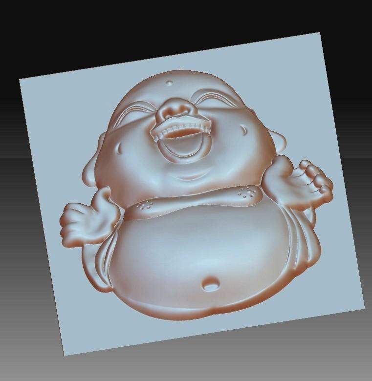 happyBuddhaB4.jpg Télécharger fichier STL gratuit joyeux petit Bouddha • Modèle pour imprimante 3D, stlfilesfree