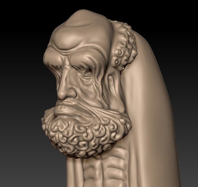 BodhidharmaB6.jpg Download free STL file Bodhidharma • 3D printing design, stlfilesfree