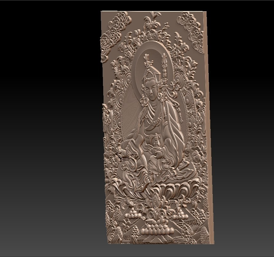 Thangka3.jpg Download free STL file Thangka paintings of bas-relief • 3D print template, stlfilesfree
