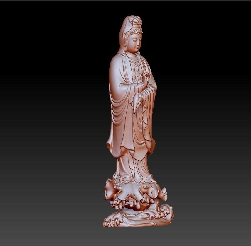 016guanyin5.jpg Download free OBJ file Guanyin bodhisattva Kwan-yin sculpture for cnc or 3d printer #016 • 3D printer design, stlfilesfree