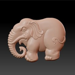 elephant_pendant1.jpg Download free OBJ file elephant pendant • 3D printing design, stlfilesfree