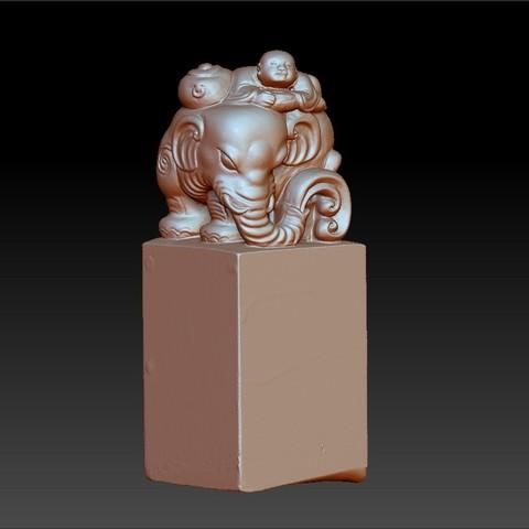 elephantsAndChild1.jpg Download free OBJ file elephant seal • 3D printing model, stlfilesfree