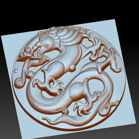 circularDragon4.jpg Télécharger fichier OBJ gratuit dragon circulaire • Objet imprimable en 3D, stlfilesfree