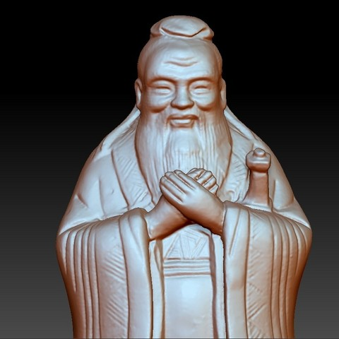 ConfuciusSmall5.jpg Download free OBJ file Confucius statue • 3D printing object, stlfilesfree