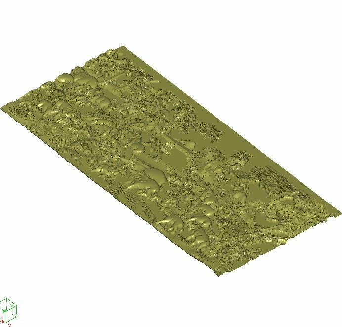 hundredsofelephants3.jpg Download free STL file elephants bas-relief model for cnc • 3D printing model, stlfilesfree